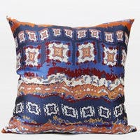"G Home Collection Luxury Tangerine Tribe Pattern Jacquard Pillow 20""X20"""