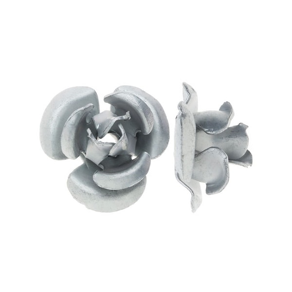 Metal Embellishments, Rose Flower Beads 8mm, 20 Pieces, Matte Silver