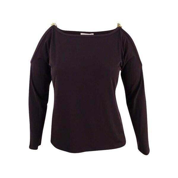 fb76d754db4f4e Shop MICHAEL Michael Kors Women s Chain-Trim Cold-Shoulder Top (XL ...