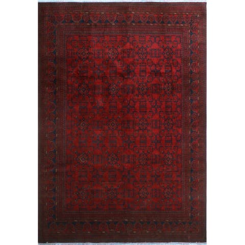 "Noori Rug Khal Mohammadi Yoman Red/Black Rug - 8'2"" x 11'7"""