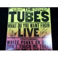 Signed Tubes The What Do You Want From Live Album Cover autographed