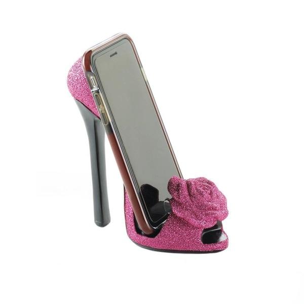 Creative Pink Rose Shoe Phone Holder