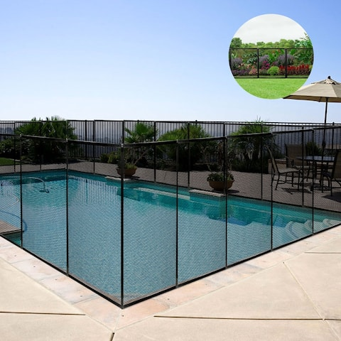 Costway 4'X124'X48' Swimming Pool Fence Garden Fence Child Barrier - 4'X12'