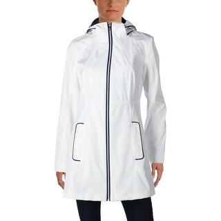Jessica Simpson Womens Raincoat Water Resistant Hooded - S