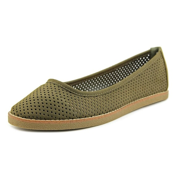 Rocket Dog Kaira Women Round Toe Synthetic Green Flats