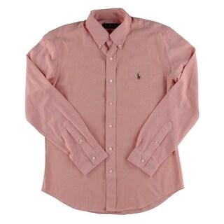 Ralph Lauren Mens Button-Down Shirt Pique Long Sleeve - L