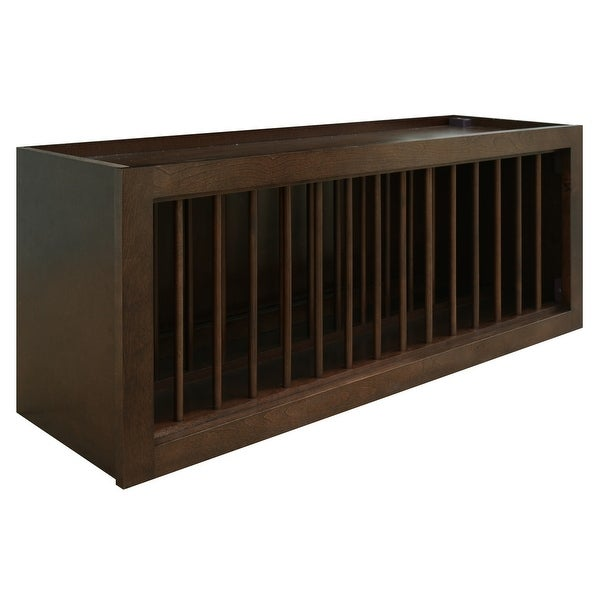 "Sunny Wood HBW3615PL-A Healdsburg 36"" x 15"" Plate Holder Wall Cabinet - Rich Walnut"