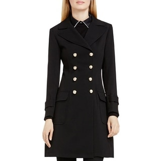 Vince Camuto Womens Coat Double-Breasted Button Front - S