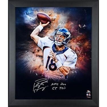 Peyton Manning signed Denver Broncos 20x24 Custom Framed Focus Photo Giclee  NFL REC 55 TDS Fanatics 46eb22117