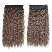 Colorful Corn Hot 5 Cards Hair Extension Wig     light brown