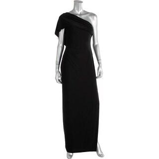 Lauren Ralph Lauren Womens Maxi Dress One Shoulder Ruched