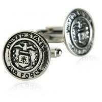 USAF Air Force Cufflinks Silver Military