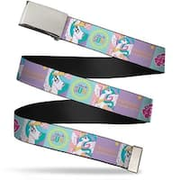 Blank Chrome Buckle Princess Celestia Blocks Webbing Web Belt
