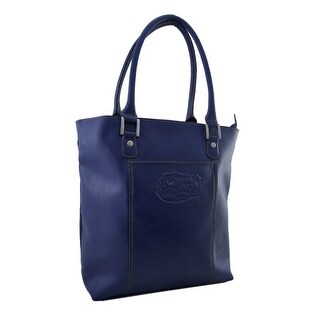 Officially Licensed University of Florida Gators Blue Leather Tote Bag - ROYAL BLUE