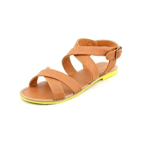 Madden Girl Rade Women Open-Toe Synthetic Tan Slingback Sandal