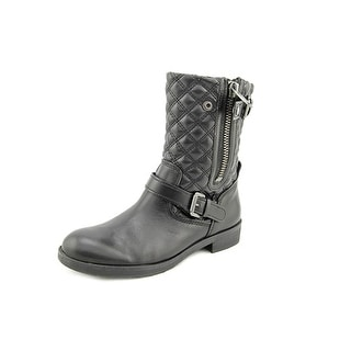 Franco Sarto Padua Round Toe Leather Mid Calf Boot