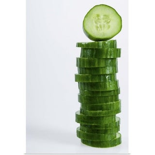 """""""Stack of cucumber slices"""" Poster Print"""