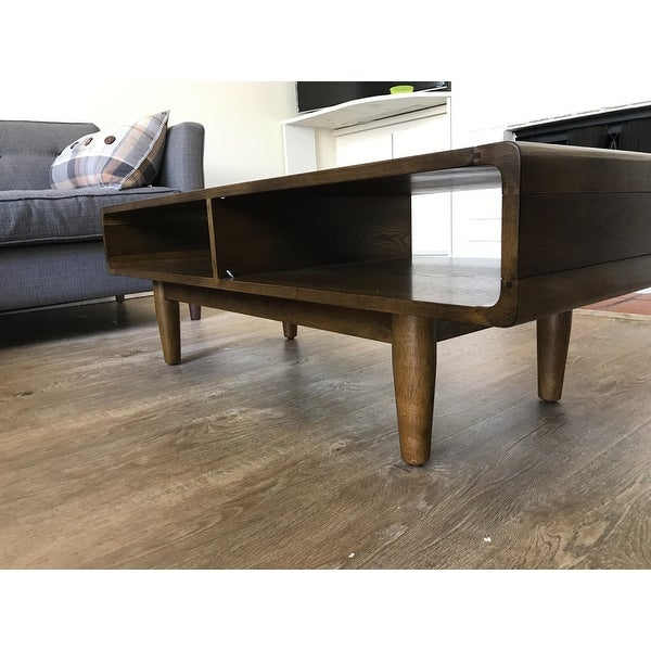 f4834c68e7ae Shop Haven Home Dexter Deco Walnut Coffee Table by Hives   Honey - Free  Shipping Today - Overstock - 13430547