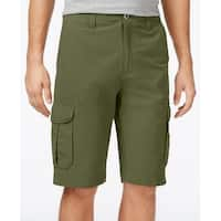 Univibe Green Mens Size 31 Button-Front Relaxe-Fit Cargo Shorts