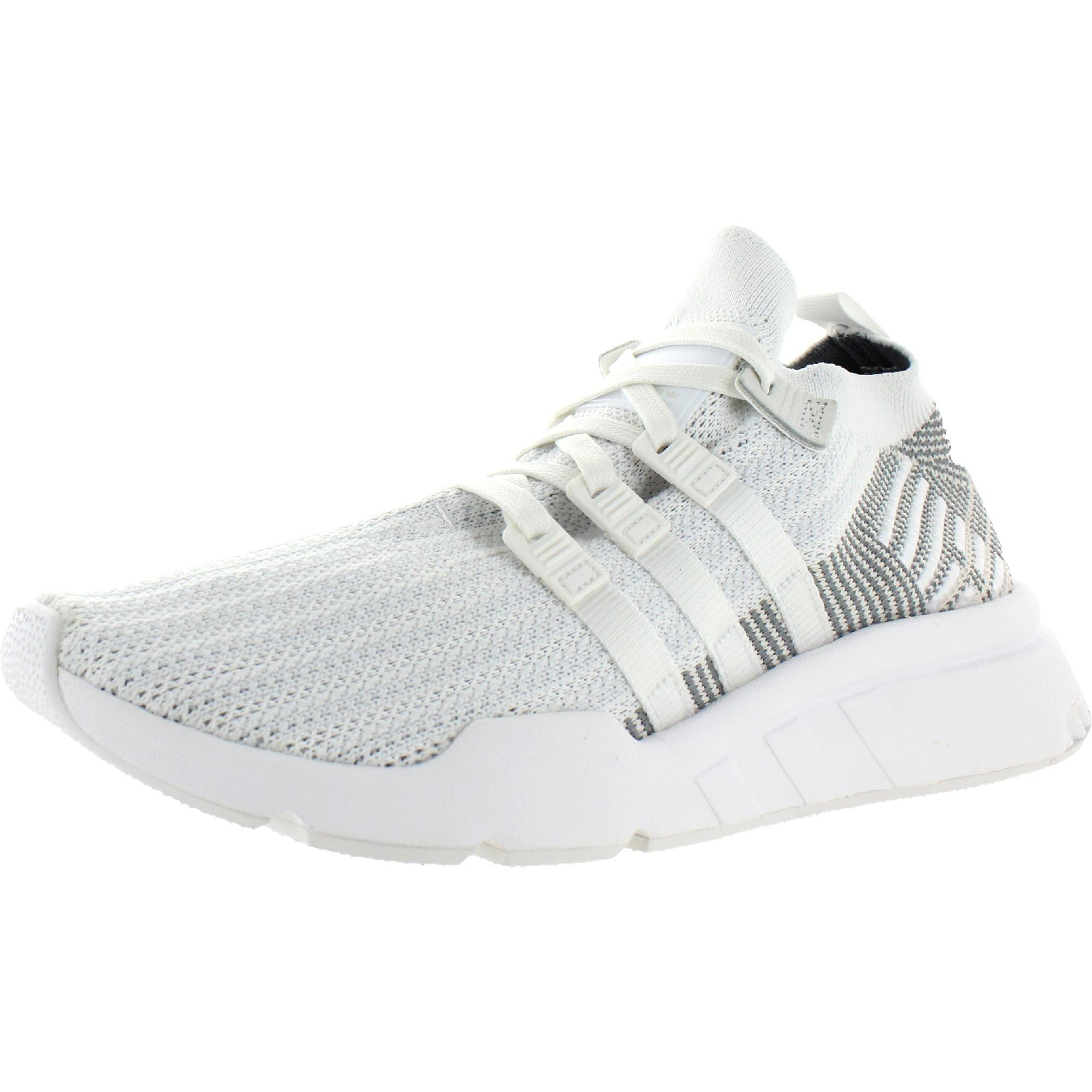 adidas Originals Mens EQT Support Mid ADV PK Athletic Shoes Ortholite Running - FTW White/FTW White/Grey