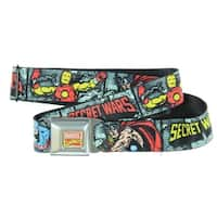 Marvel Comics Comic Book Superheroes Secret Wars Seatbelt Belt-Holds Pants Up