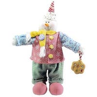 "20"" Glittery Pastel Plush Christmas Candy Snowman #16282"