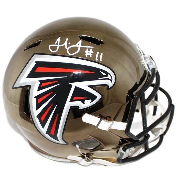 best service dc5f9 988d8 Julio Jones Autographed Atlanta Falcons Chrome Replica Helmet JSA