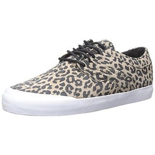 Globe Mens The Taurus Leather Leopard Print Skateboarding Shoes
