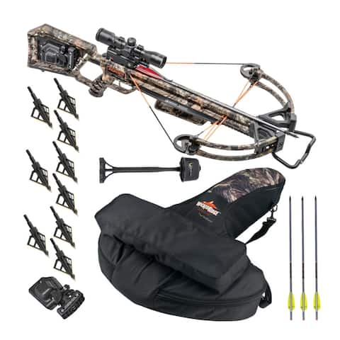 TenPoint Invader X4 Wicked Ridge 360 FPS Crossbow Kit with Case Bundle