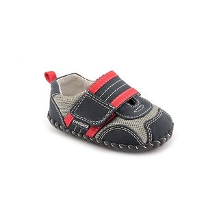 Pediped Adrian Infant Round Toe Canvas Blue Sneakers