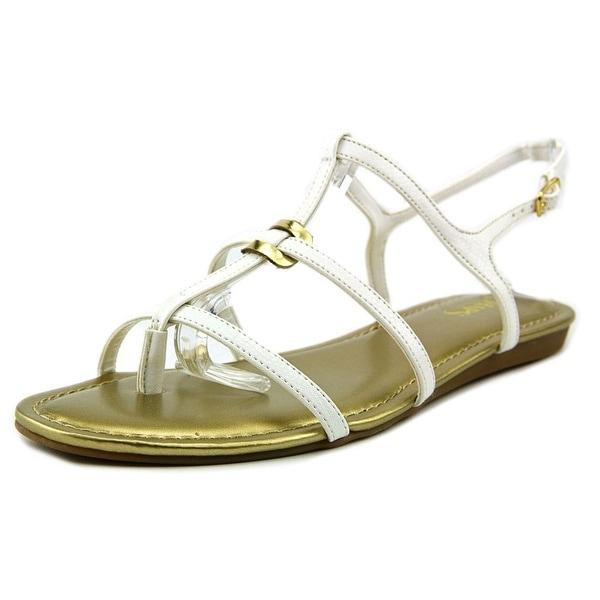 Chaps Selma Women  Open Toe Synthetic White Sandals