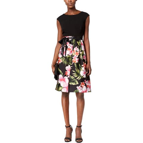 a3d0b769265 Sangria Womens Cocktail Dress Knee-Length Floral Print