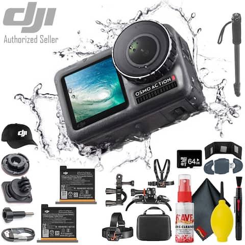 "DJI Osmo Action 4K - Monopod 70"" - DJI Cap Batteries 2 Total - 64GB"