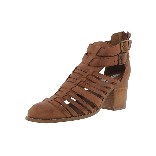 Steve Madden Womens Frenchey Heels Leather Buckle