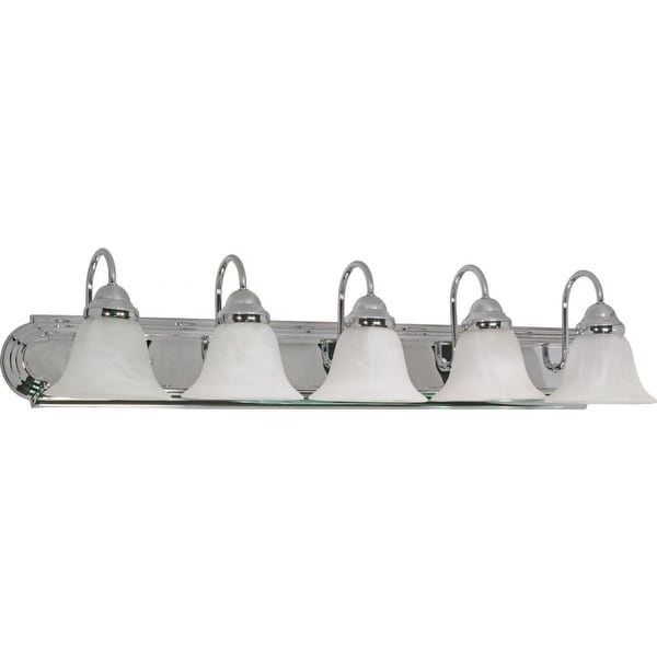 "Nuvo Lighting 60/319 Five Light Reversible Lighting 36"" Wide Bathroom Fixture from the Ballerina Collection"