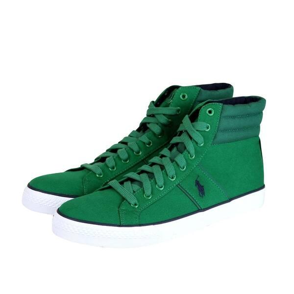 regola compensare Valutazione  Shop Polo Ralph Lauren Men's High Top Bawtry Green Canvas Sneaker with Logo  (11 US) - Overstock - 28880251