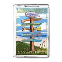 Marshfield, MA - Sign Destinations - LP Artwork (Acrylic Serving Tray)