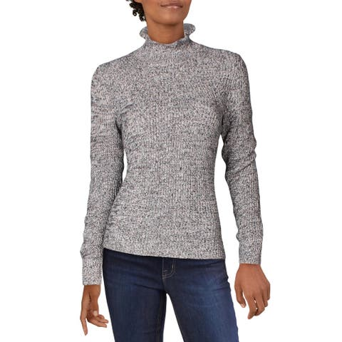 Joie Womens Mock Sweater Marled Long Sleeve - Pink