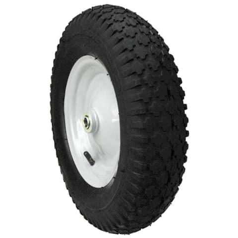 "Max Power 335232 Hub Knobby Tread Wheelbarrow Wheel, 4.8"" X 4"" X 8"""