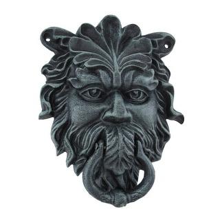 Verdigris Finish Cast Iron Celtic Greenman Door Knocker - 9 X 7 X 2 inches