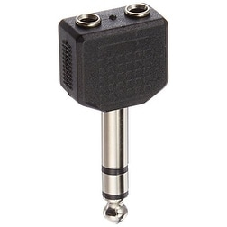 C2g - 6.3Mm (1/4In) Stereo Male To Dual 3.5Mm Stereo Female Adapter