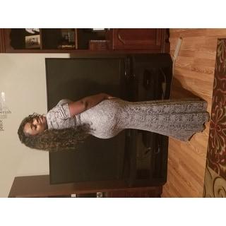 Women's 3/4 Sleeved Long Lace Dress