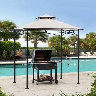 Link to Sunjoy 5 ft. x 8 ft. Black Grill Gazebo with Canopy Similar Items in As Is