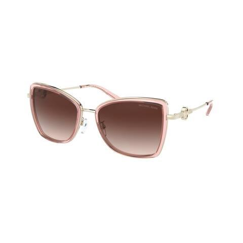 Michael Kors MK1067B 101913 55 Light Gold/pink Grapefruit Woman Butterfly Sunglasses