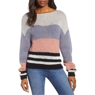 Link to Lucky Brand Womens Bold Stripe Pullover Sweater Similar Items in Women's Sweaters
