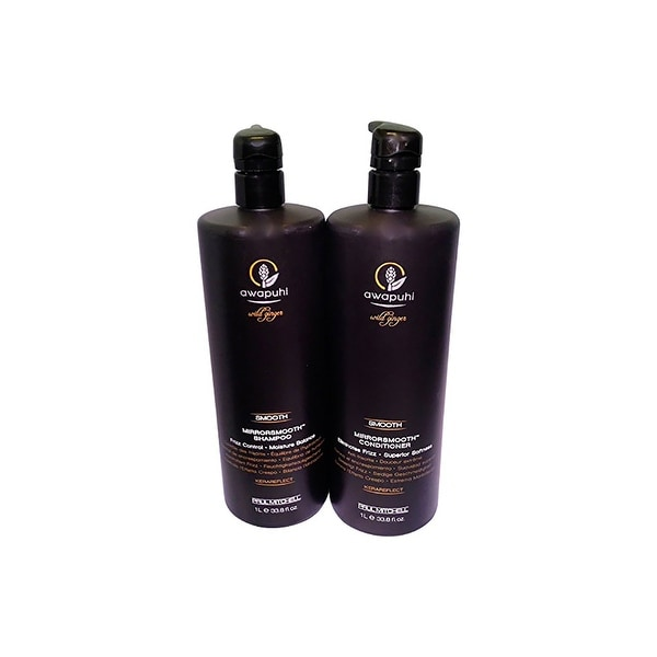 Paul Mitchell Mirror Smooth Awapuhi Wild Ginger Shampoo & Conditioner 33.8 Oz Combo Pack