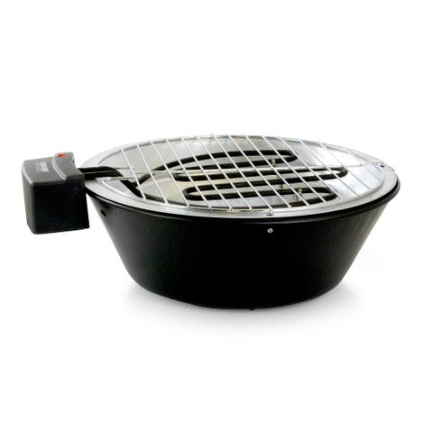 Better Chef Indoor Outdoor 14 in Tabletop Electric Barbecue Grill