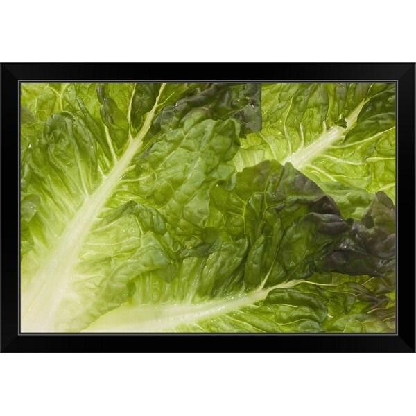 """""""Lettuce"""" Black Framed Print"""