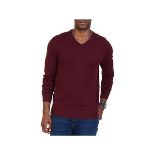Nautica Mens Pullover Sweater Long Sleeves V-neck