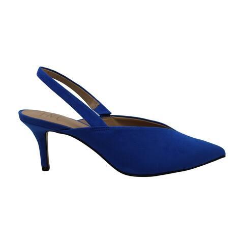 INC International Concepts Womens Velda Fabric Closed Toe SlingBack Classic Pumps